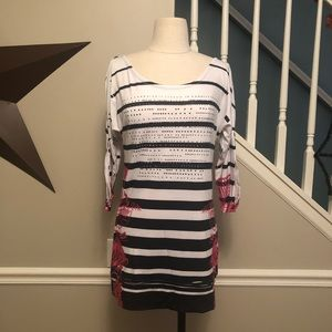 Stripe Tunic Top from Cache